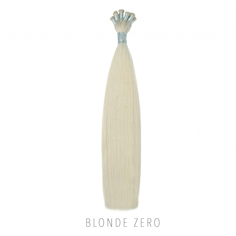 Pale Blonde Hand Tied Hair Extensions